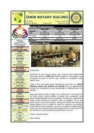 İZMİR ROTARY KULÜBÜ - Rotary 2440.Bölge
