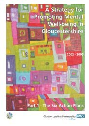 A Strategy for Promoting Mental Well-being in Gloucestershire