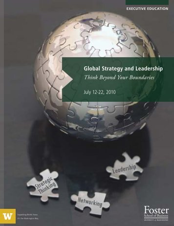 GSL Brochure 2010 new.indd - University of Washington Foster ...