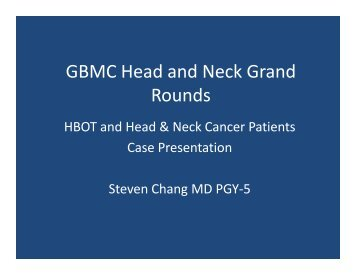 HBOT - Greater Baltimore Medical Center