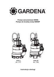 OM, Gardena, Pompa zanurzeniowa 6000S, Art 01777-20, Art ...