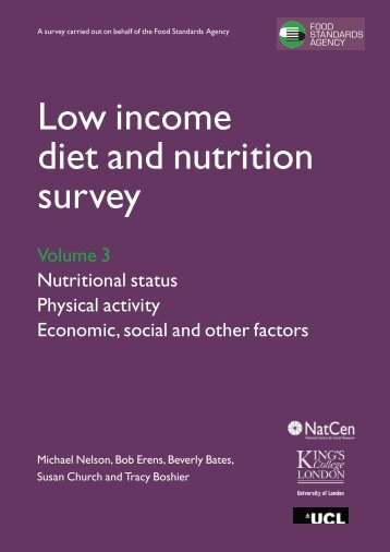 Low Income Diet and Nutrition Survey - Food Standards Agency