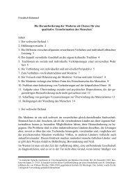 Friedrich Kümmel Die Herausforderung der Moderne als Chance für ...