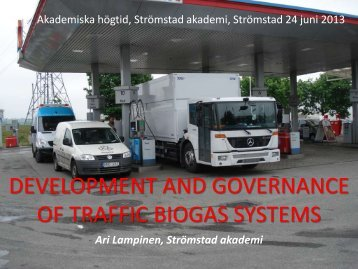 governance of transfer of traffic biogas technology - Nordic ...