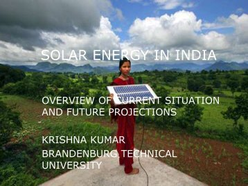 SOLAR ENERGY IN INDIA - Nordic Folkecenter for Renewable Energy