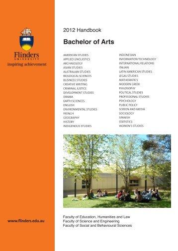 Bachelor of Arts - Flinders University
