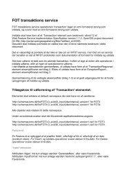 FOT transaktions service - FOTdanmark