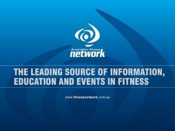 References - Australian Fitness Network