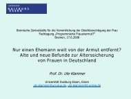 Vortrag Ute Klammer - Bremen