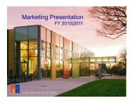 Marketing Presentation - the Flint Institute of Arts