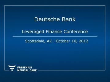 Deutsche Bank - Fresenius Medical Care
