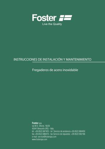 Manual de instrucciones - Foster S.p.A.