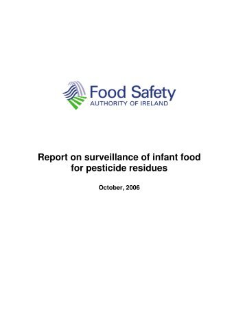 Report on surveillance of infant food for pesticide residues