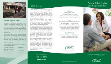 Audiology Brochure 7/03 - Greater Baltimore Medical Center