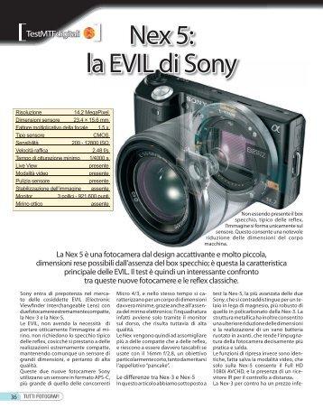 Nex 5: la EVIL di Sony - Fotografia.it