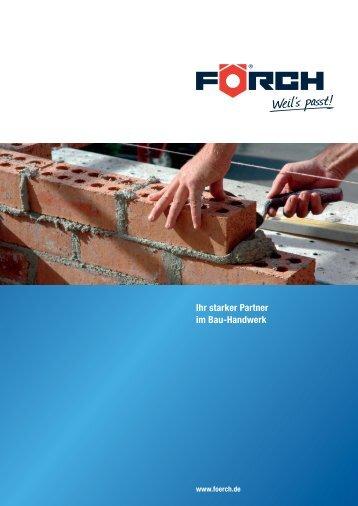 Ihr starker Partner im Bau-Handwerk - Förch