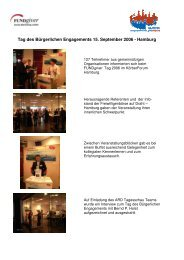 Tag des Bürgerlichen Engagements 15. September 2006 - Hamburg