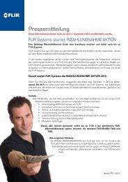 Pressemitteilung herunterladen for Industrie - FLIR Systems