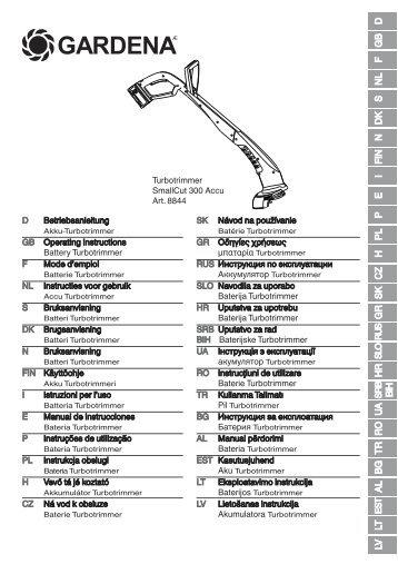 Gebrauchsanweisung Gardena Ersatzteilech