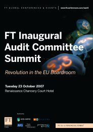 Ft inaugural audit committee summit