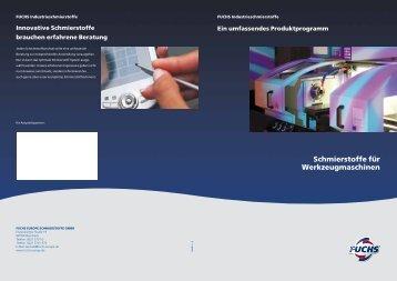 Schmierstoffe für Werkzeugmaschinen - fuchs europe schmierstoffe ...