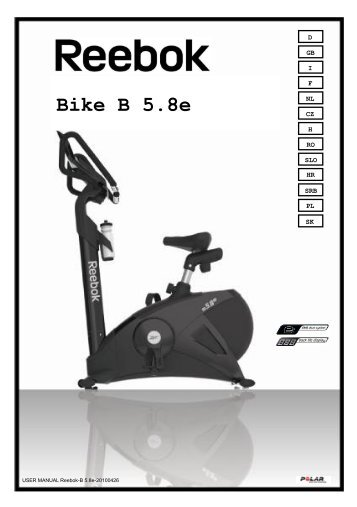 Handbuch Bike B 5.8e LE - Reebok Fitness