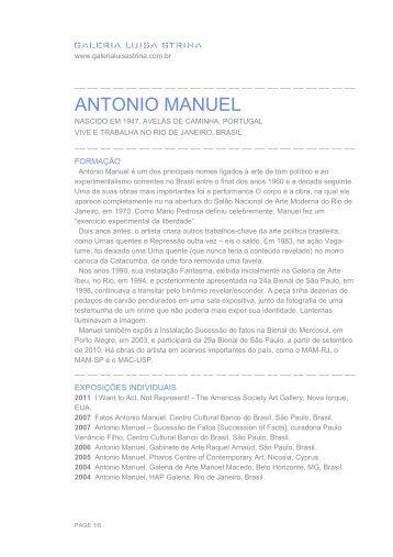 ANTONIO MANUEL - Galeria Luisa Strina