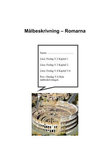 Målbeskrivning – Romarna
