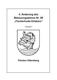 """4. Änderung des Bebauungsplanes Nr. 88 """"Fischerhude-Ortskern"""""""