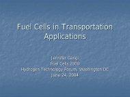 Fuel Cells in Transportation Applications - Fuel Cells 2000