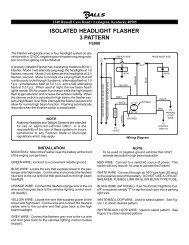 isolated headlight flasher 3 pattern - galls