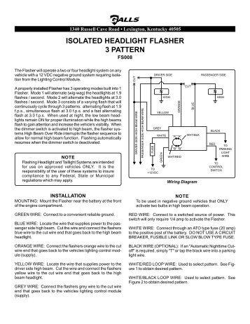 galls traffic flasher wiring diagram solution of your wiring fs016 and fs027 galls rh yumpu com 3 wire flasher wiring diagram signal flasher wiring diagram
