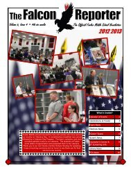 Volume 6, Issue 4 • 4th six weeks The Official Fowler ... - Frisco ISD