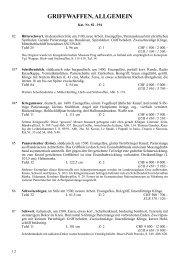 Griffwaffen, allgemein - Kat.-Nr. 82-194 - Galerie Fischer Auktionen AG