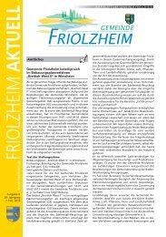 Blättle KW 6 - Friolzheim