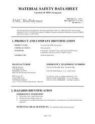 Viscarin® GP 209M Carrageenan - FMC Corporation