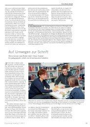 Auf Umwegen zur Schrift - Forschung Frankfurt - Goethe-Universität