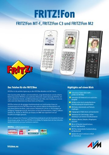Datenblatt FRITZ!Fon MT-F [pdf]