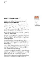 PRESSEMEDDELELSE - Gammel Estrup