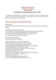 FONDAZIONE EL.B.A. Rapporto Annuale Attività 2005 Consiglio Di ...