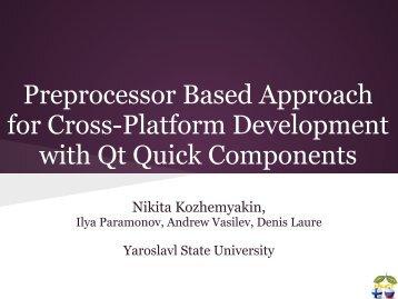 Preprocessor Based Approach for Cross-Platform ... - FRUCT