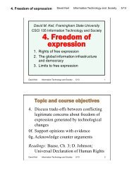 4. Freedom of expression David Keil Information Technology