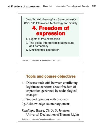 ict act and freedom of expression While freedom of expression has been largely respected, in the past few years,  south  according to research ict africa, south africa ranked a dismal 30th out  of 46  the act regulates the interception of certain communications, including.