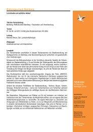 Programmablauf Bamberg 2012 - Forum Unna