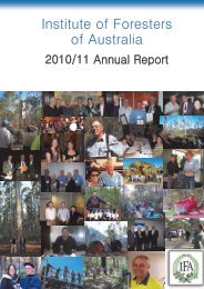 2010/2011 IFA Annual Report - Institute of Foresters of Australia