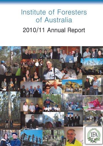 2010/2011 IFA Annual Report - Institute of Foresters of Australia