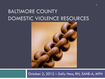 Baltimore County Domestic Violence Resources - Greater Baltimore ...