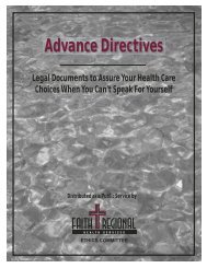 What is an advance directive? - Faith Regional Health Services