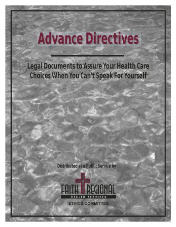 What is an advance directive? - Faith Regional Health Services