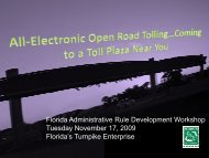 workshop presentation - Florida's Turnpike
